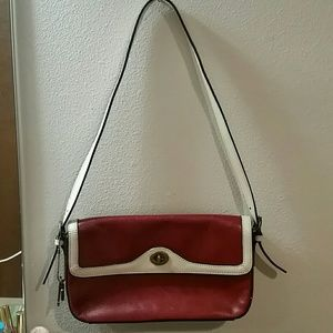 Red & White Fossil Purse